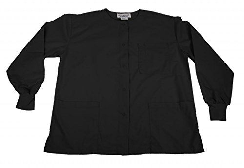 Natural Uniforms Women's Warm Up Jacket (Black) (Medium) (Plus Sizes Available)