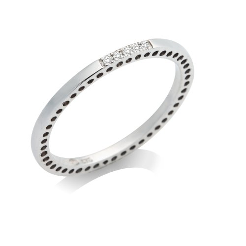 Miore - MP9118RM - Bague Femme - Or Blanc 375/1000 (9 carats) 1.0 gr - Diamant