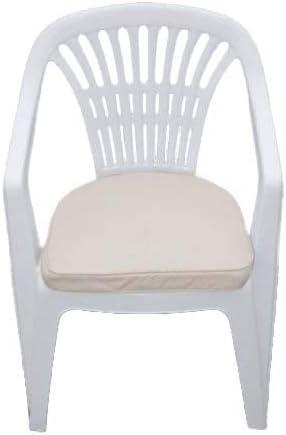 Cojín para muebles de jardín - Cojín en forma de D para silla de jardín de plástico - Color beige claro: Amazon.es: Jardín