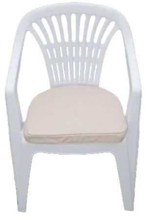 Cojín para muebles de jardín - Cojín en forma de D para ...