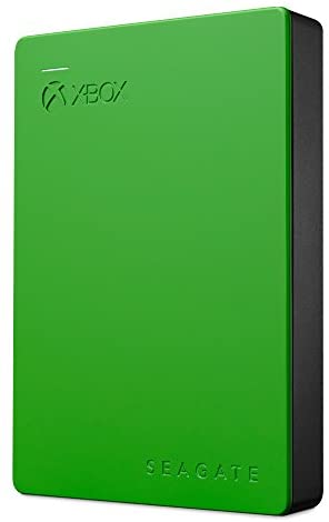 Seagate Game Drive 4TB External Hard Drive Portable HDD - Designed For Xbox One, Green - 1 year Rescue Service (STEA4000402)
