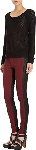 rag & bone, Jekyll Leather-Trim Legging Jeans, Burgundy -