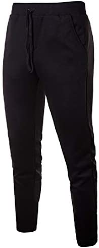 Candiyer メンズシムフィットヒップホップ簡単な巾着腰フィットアスレチックランニングパンツ
