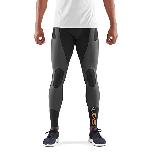 Skins Men's DNAmic Ultimate K-proprium Long Tights, Black/Charcoal, X-Large by Skins (Image #1)