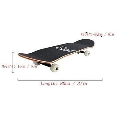 ENYI Skateboard Longboard Four-Wheeler Road Brush Street Professional Young Adult Beginner Skateboard Double Warped Skateboard : Sports & Outdoors