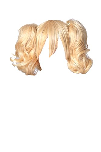 [Dream2Reality Cosplay Code Geass Lelouch of the Rebellion Anya Alstreim 2 Ponytails, 35cm Blonde Japanese Kanekalon] (Blonde Pigtail Wig)