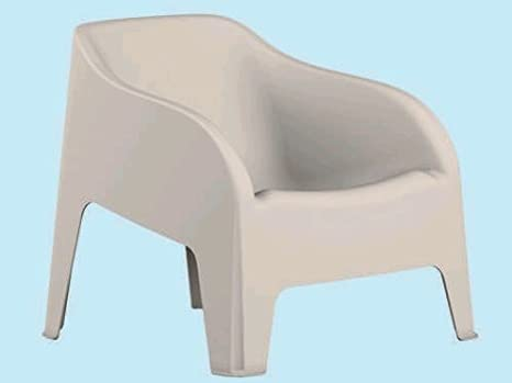 Poltrone Da Giardino Plastica.Toomax Poltrona Sedia Da Giardino In Resina Petra Z185 Colore Bianco 79x79x80h Cm