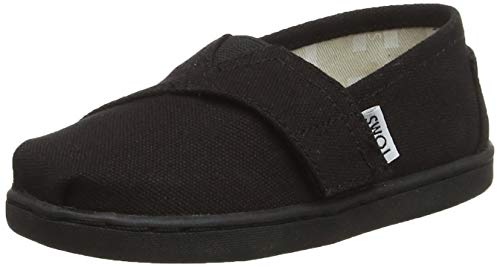 TOMS Kids Unisex Alpargata 2.0 (Infant/Toddler/Little Kid) Black Canvas 8 M US Toddler Black Canvas Kids Shoes
