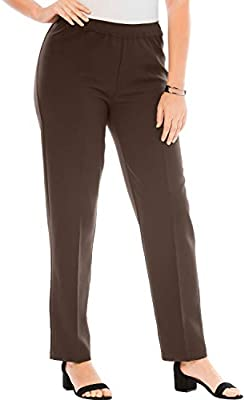 Roamans Women S Plus Size Tall Bend Over Classic Pant