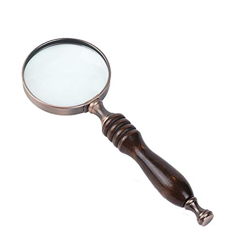 Fan-Ling Handle Magnifier,10X Reading Magnifying, Handheld Glass Loupe Magnifier,Magnifying Glass Reading Aid Lens,Ideal for Reading Books, Newspapers,Drawing Pictures (Definition For Spectacles)