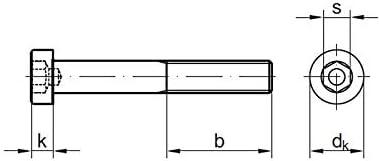 verzinkt Stahl 8.8 galv M10 x 90 mm 2 Stk Zylinderschrauben DIN 6912