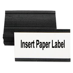 -- Magnetic Card Holders, 3''w x 1-3/4''h, Black, 10/Pack by MOT3 (Image #1)