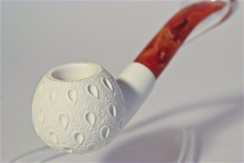 Standard Apple Lattice Bent Meerschaum Pipes