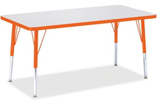 Jonti-Craft Rainbow Accents Rectangle Activity Table Orange, 48L x 24W inches by Berries
