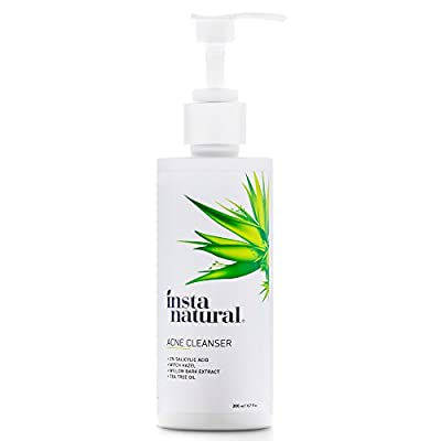 Acne Face Wash With Salicylic Acid - Cleanser Treatment for Smooth Complexion - Clears Blackheads, Hormonal Breakouts, Pimples, Acne Scars & Blemishes - For Men & Women - InstaNatural - 6.7 oz by InstaNatural