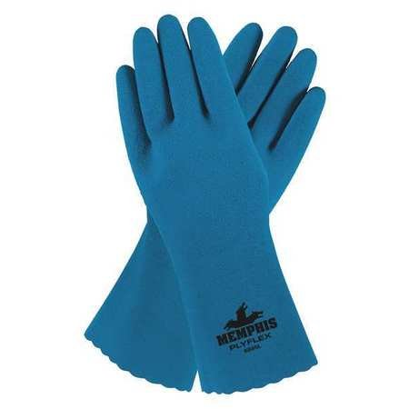 Chemical Resistant Gloves, Latex, 2XL, 12''L, Textured