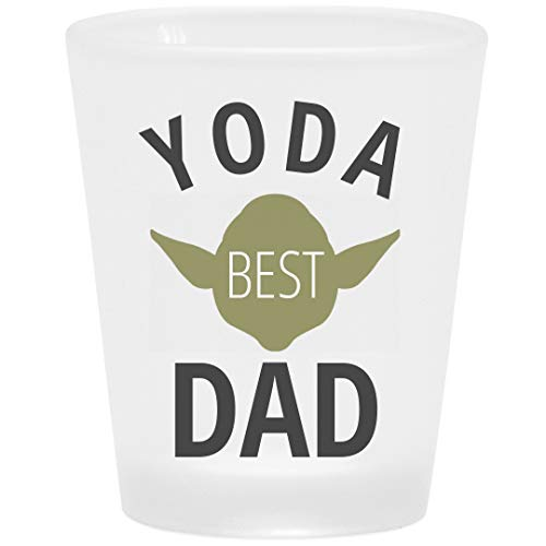 Yoda Best Dad Frosted Shot Glass: Frosted Shot Glass -