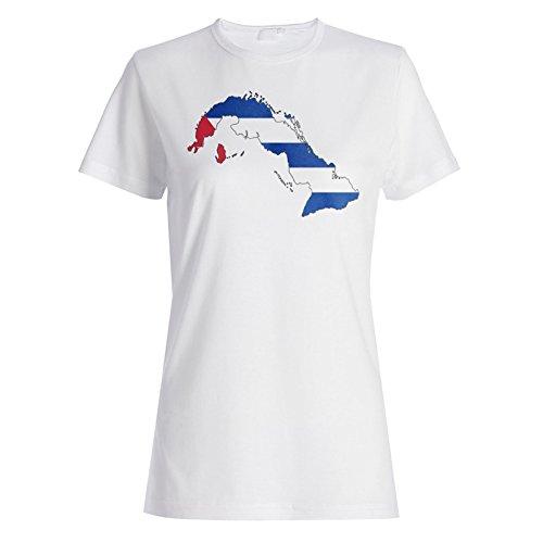 Neue Kuba-Flaggenkunst Damen T-shirt m123f