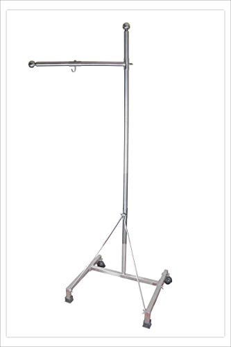 Stainless Steel Shirodhara Stand by American Ayurveda Panchkarma Oil Treatment with Wheels Portable Easy to Dismantle Store & Reassemble Added Support for Stability Extremely Durable!
