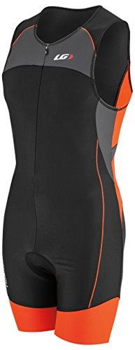 Power Tri Suit (Louis Garneau Men's Men Comp Suit Grey/Orange Swimsuit MD)