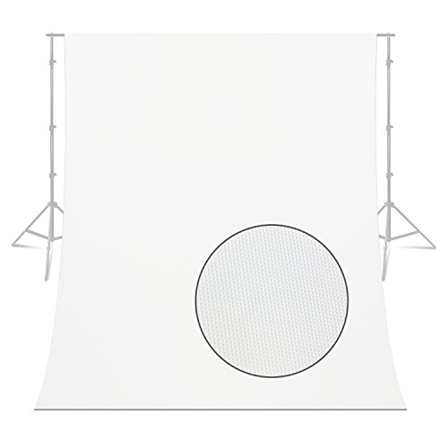 Satin White Background - LimoStudio 6 x 9 feet Professional Heavy Duty White Vinyl Photography Background for Video and Photo Shoots, Photo Studio (Backdrop Only), AGG2283