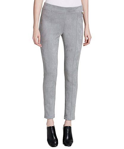 Calvin Klein Women's Faux-Suede Leggings Silver Large ()