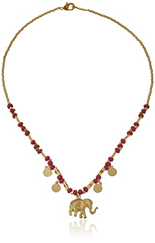Chan Luu Red Bead Short with Elephant Charm Pendant Necklace (Red Elephant Necklace compare prices)