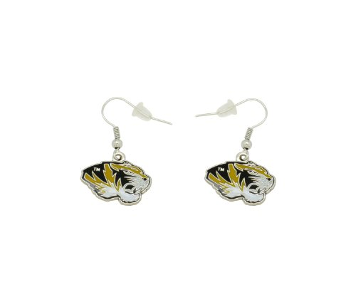 Spirit Tiger - aminco NCAA Dangler Earrings, Missouri Tigers