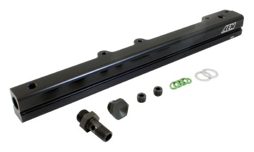 Civic Honda Injector Fuel - AEM 25-109BK Black High Volume Fuel Rail