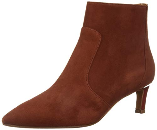 Aquatalia Women's MARILISA Suede Ankle Boot, Brick, 8.5 M US