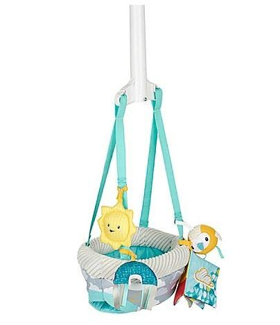 Easy to Travel and Easy to Clean Evenflo ExerSaucer Sweet Skies Doorway Jumper Featuring Fun Removable Toys Generic