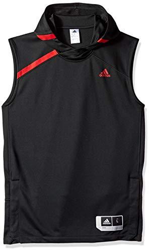 adidas Adult Men NCAA On Court Sleeveless Shooting Shirt, 2X-Large, Black, North Carolina State Wolfpack
