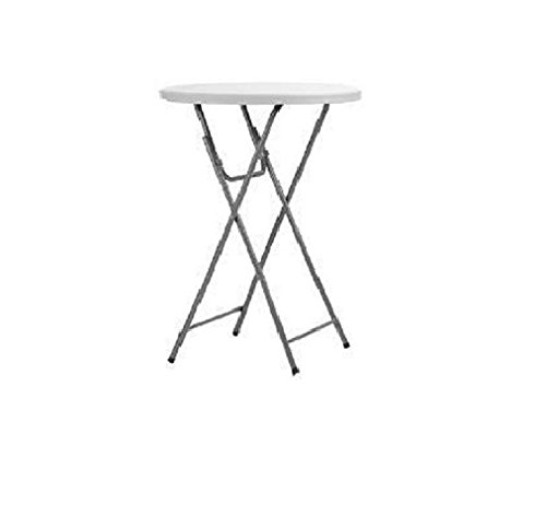 Cosco 60530ZST1E Commercial Cocktail Heavy Duty Blow Mold Banquet Folding Table, Gray ()