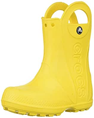 Crocs Unisex Kids Handle It Rain Boot, Yellow, C8