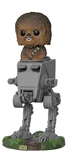 Funko- Pop Deluxe Star Wars AT-ST w/Chewbacca, Multicolor, Standard (27023)
