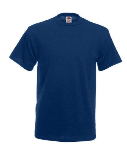 Fruits of the Loom T-shirt en coton épais pour homme Uni -  Bleu - Bleu marine - moyen