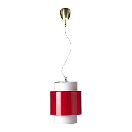IKEA Hanging Light gårdskär in White and Red; Glass: Amazon