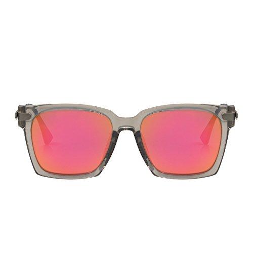 PERVERSE sunglasses Swell Square Wayfarer Sunglasses (Gray Transparent, - Glasses Swell