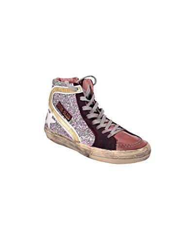 Gouden Gans Dames G32ws595t7 Violet Glinsterende Hi Top Sneakers