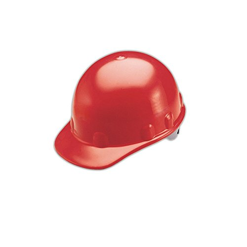 Fibre-Metal by Honeywell P2HNRW15A000 Super Eight Fiber Glass High Heat Ratchet Cap Style Hard Hat Red Honeywell Safety Products USA