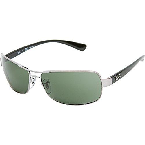 Ray-Ban RB3379 RB3379 Sunglasses Gunmetal / Crystal Green Polarized 64mm & Cleaning Kit - Green Gunmetal