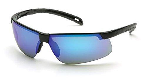 (12 Pair) Pyramex Ever-Lite Glasses Black Frame/Ice Blue Mirror Lens (SB8665D)