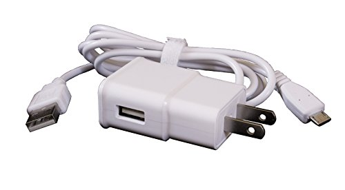 Price comparison product image ReadyPlug USB Wall Charger for: Wonder Bible (White, 6 Feet)