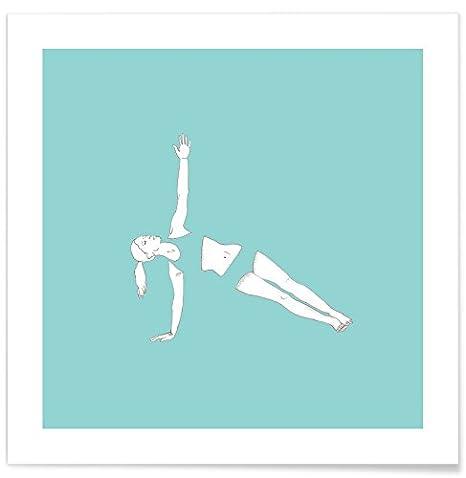 Juniqe® Poster 30x30cm Yoga - Diseño Yoga Practice 8 ...