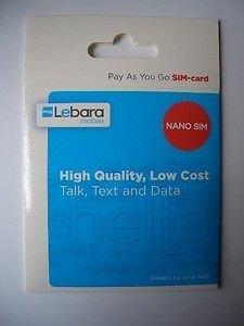 HQ Gizmo SIM de Lebara Tarjeta Nano SIM oficial unidades para ...