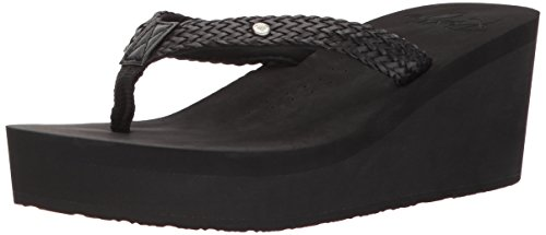 Roxy Women's Mellie Wedge Sandal, Black New, 8 M ()