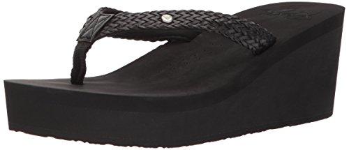 Roxy Women's Mellie Wedge Sandal, Black New, 8 M US