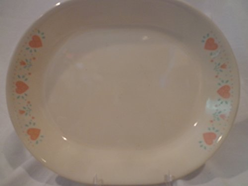 Corelle Country Hearts Forever Oval Platter, Corningware Platter Country Hearts