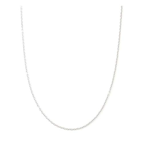 2MM Stainless Steel Chain Necklace, Silver Tone Open Cable Thin Chain Jewelry Necklace Alone Pendant Addition,16-30 inches ()