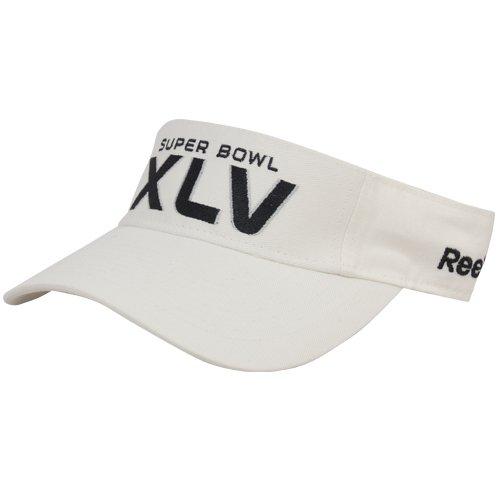 Reebok Visor Football - Reebok Super Bowl XLV Visor- White Adjustable
